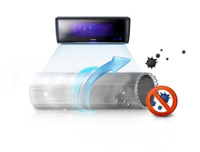 Auto limpeza condicionador samsung smert inverter wi fi