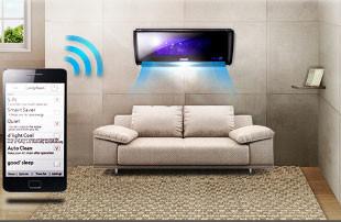 ar condicionado samsung wi fi e smartphone